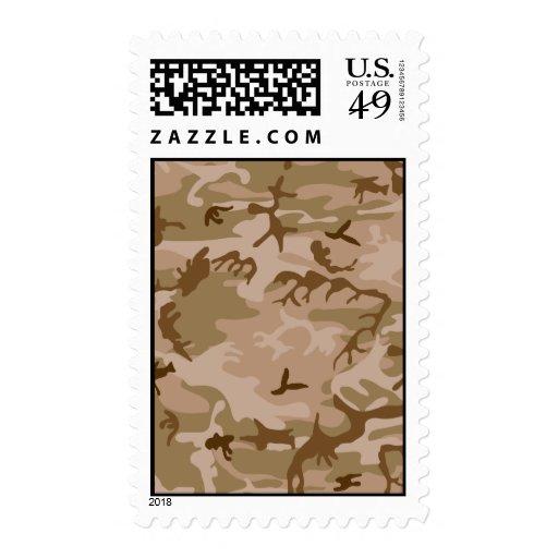 Desert Camo - Brown Camouflage Postage Stamp
