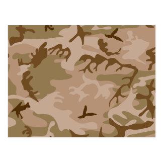 Desert Camo - Brown Camouflage Postcard
