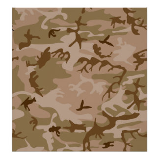 Desert Camo - Brown Camouflage Posters