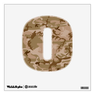 Desert Camo - Brown Camouflage Wall Decal