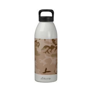 Desert Camo - Brown Camouflage Water Bottles