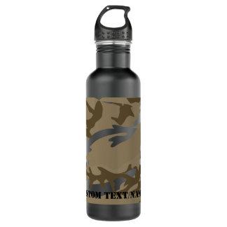 Desert Camo Camoflauge Background Pattern Water 24oz Water Bottle