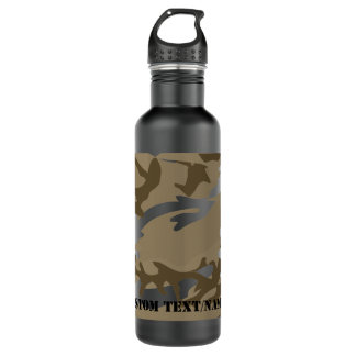 Desert Camo Camoflauge Background Pattern Water Stainless Steel Water Bottle