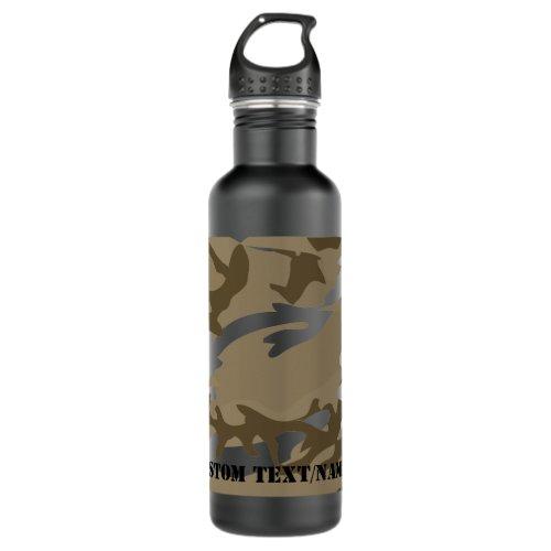 Desert Camo Camoflauge Background Pattern Water Stainless Steel Water Bottle