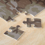 Desert Camo Heart on Camouflage Puzzle