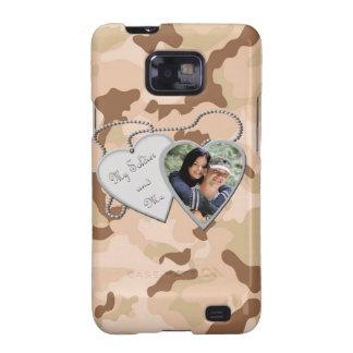 Desert Camo My Soldier & Me Hearts Custom Photo Sa Samsung Galaxy S2 Cover