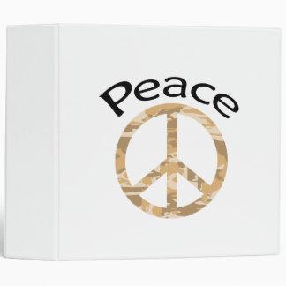 Desert Camo Peace & Word 3 Ring Binder