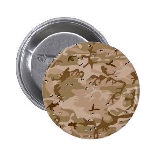 Desert Camo Pinback Button