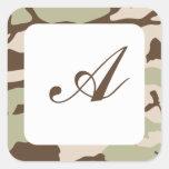 Desert Camo Square Sticker