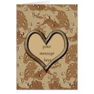 Desert Camo Valentine Card - Customized Greeting Card