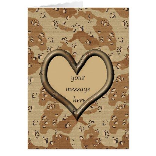 Desert Camo Valentine Card - Customized