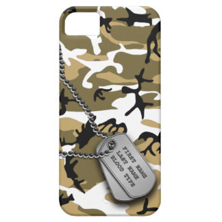 Desert Camo w/ Dog Tags iPhone 5 Cases