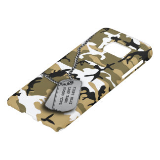 Desert Camo w/ Dog Tags Samsung Galaxy S7 Case