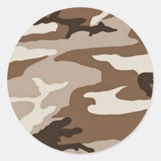 Desert camoflauge round sticker