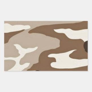 Desert camoflauge rectangular stickers