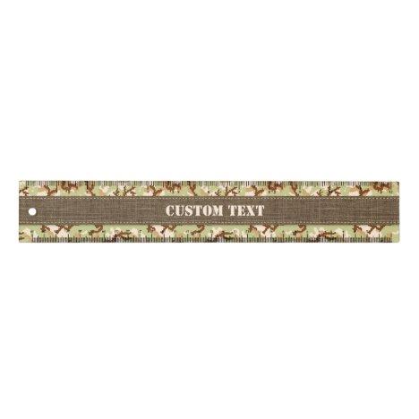 Desert Camouflage 12 inch Ruler