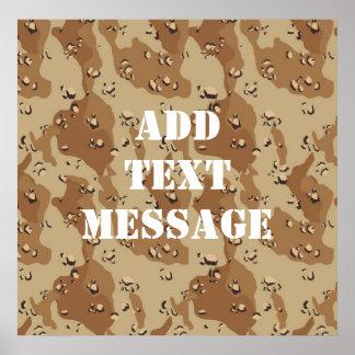 Desert Camouflage (1) Poster