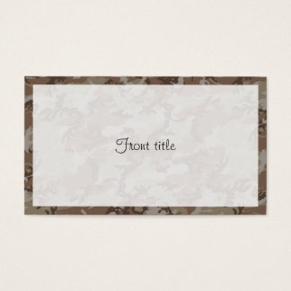 Desert Camouflage Background Business Card
