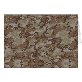 Desert Camouflage Background Card