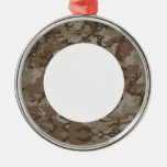 Desert Camouflage Background Christmas Ornament