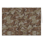Desert Camouflage Background Greeting Card