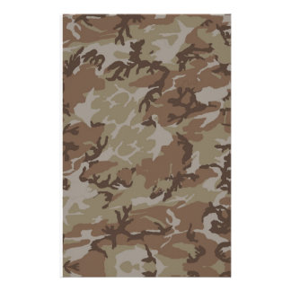 Desert Camouflage Background Stationery Design