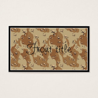 Desert Camouflage Background Template Business Card