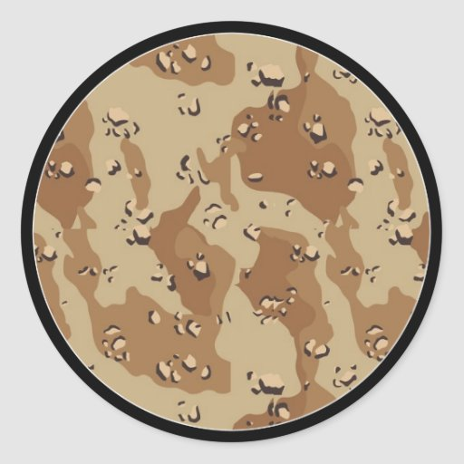 Desert Camouflage Background Template Stickers