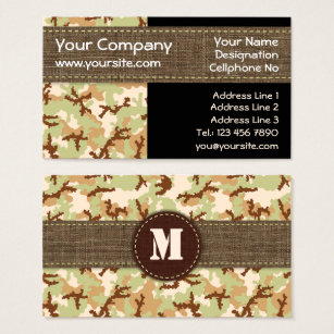 Camouflage business cards templates zazzle desert camouflage business card colourmoves
