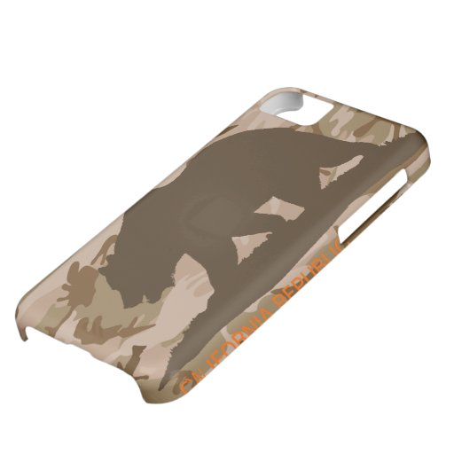 Desert Camouflage California Flag Cover For iPhone 5C