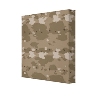 Desert Camouflage Canvas Print