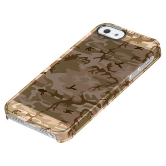 Desert Camouflage Clear iPhone SE/5/5s Case