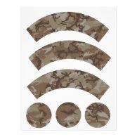 Desert Camouflage Cupcake Wrapper Letterhead
