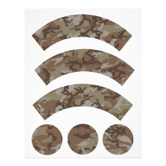 Desert Camouflage Cupcake Wrapper Customized Letterhead