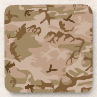 Desert camouflage design beverage coaster