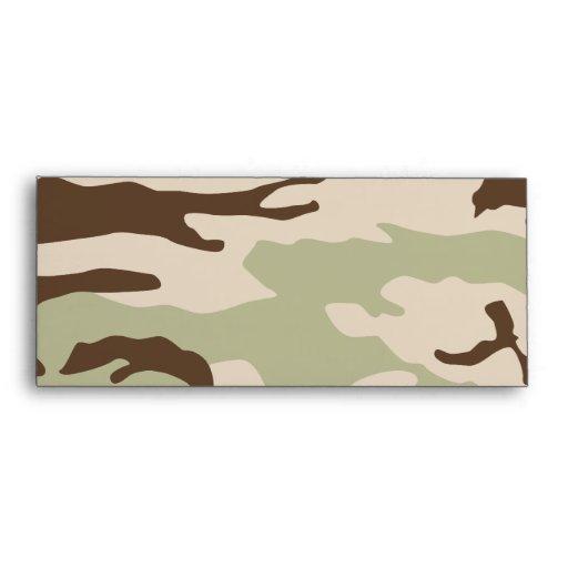 Desert Camouflage Envelopes