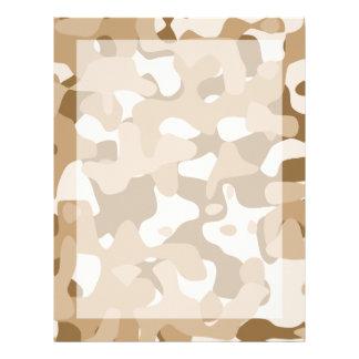 Desert Camouflage Letterhead