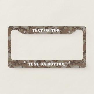 Desert  Camouflage Military Pattern License Plate Frame