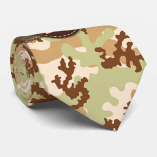 Desert camouflage neck tie
