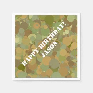 Desert Camouflage Paper Napkin