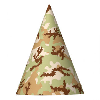 Desert camouflage party hat