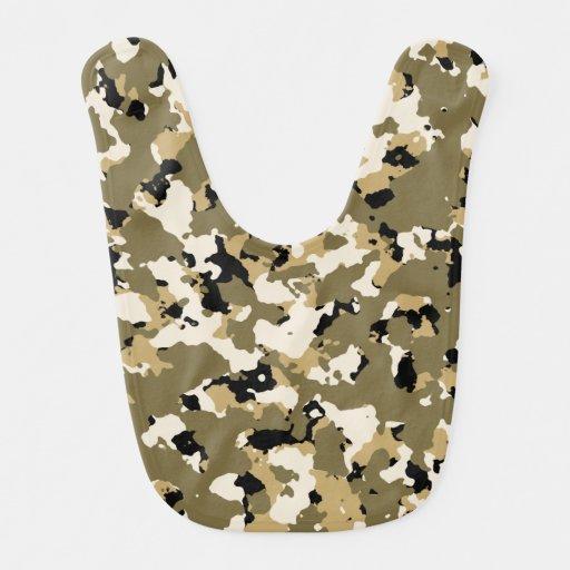 Desert Camouflage Pattern Baby Bib