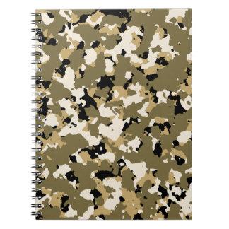 Desert Camouflage Pattern Notebook