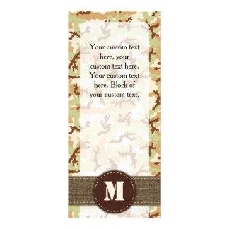 Desert camouflage rack card