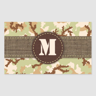 Desert camouflage rectangular sticker