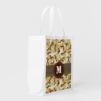 Desert camouflage reusable grocery bag
