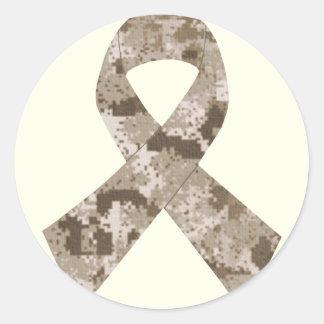 Desert Camouflage Ribbon Sticker