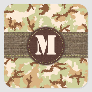 Desert camouflage square sticker