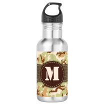 Desert camouflage stainless steel water bottle