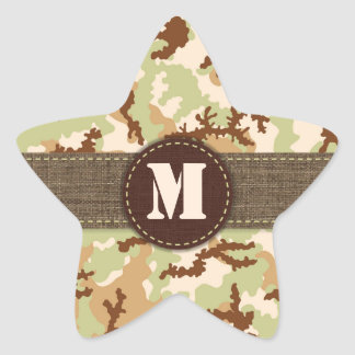 Desert camouflage star sticker